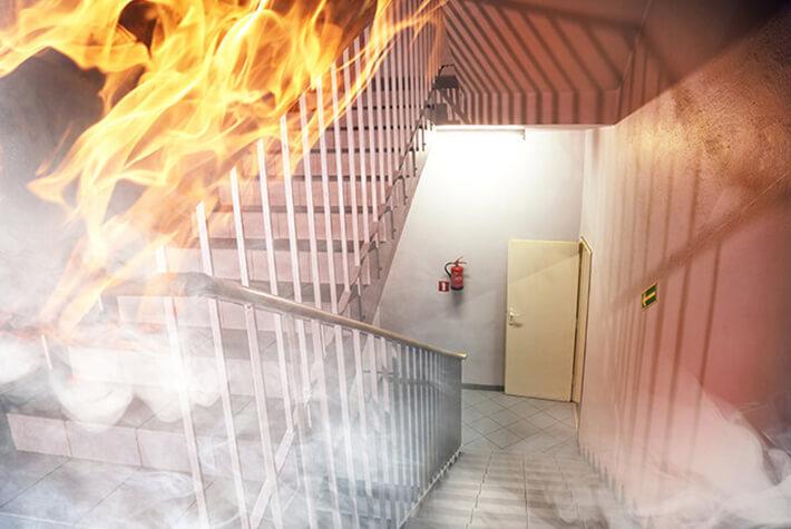 yangın merdiveni yaptırılması